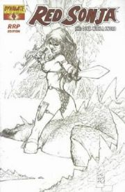 Red Sonja #4 RRP Silvestri Sketch Retail Incentive Variant